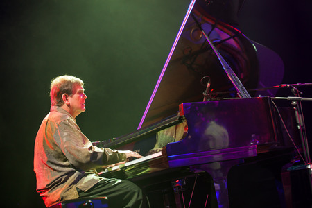 kaunas: KAUNAS, LITHUANIA - APRIL 26, 2015: Grammy winner pianist Chip Crawford performs at the stage of Kaunas Jazz festival. Editorial