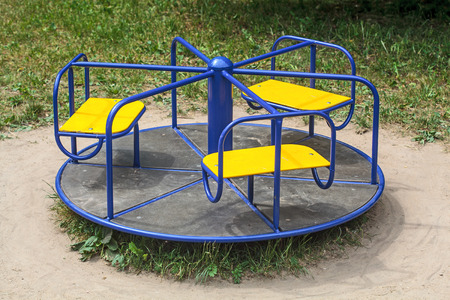 roundabout: Roundabout in empty child playground