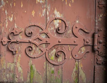 hinge: Old medieval door hinge
