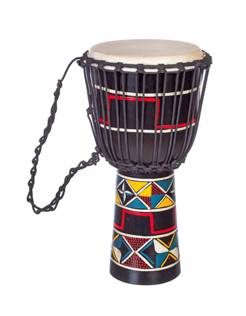 djembe: Djembe drum isolated over white