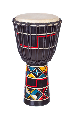 djembe drum: Djembe drum isolated over white