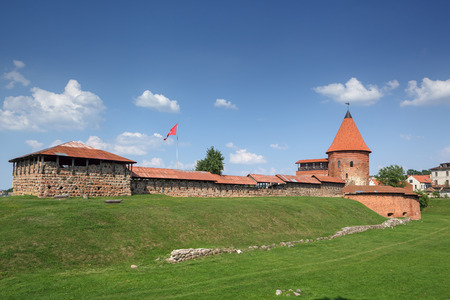 KAUNAS, LITHUANIA - June 25, 2016: Kaunas Castle, built during the mid-14th century, in the gothic style.