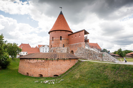 KAUNAS, LITHUANIA - June12, 2016: Remains of Kaunas Castle, built during the mid-14th century, in the gothic style.