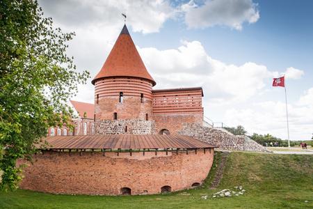 kaunas lithuania june12 2016 remains of kaunas castle built during the