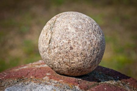round: Round stone over blury background