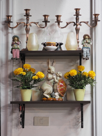 modern doll: candlestick decorate doll home house indoor lantern ledge modern rack shelf