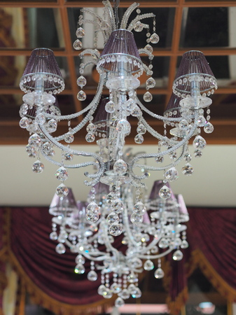 glass bed: bed chandelier crystal decorate glass home house housen indoor lamp modern outdoor