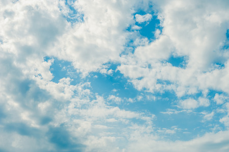 bright sky: Bright blue sky and clouds