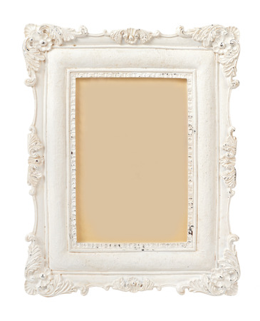 vintage retro frame: Vintage Plaster Frame isolated on white
