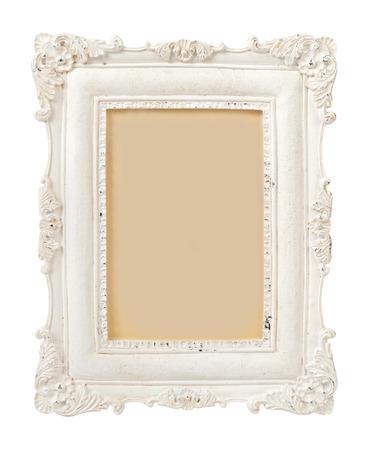 Vintage Plaster Rahmen isoliert auf weiß