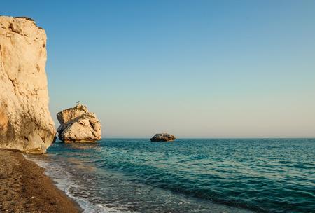 tou: Rocks and the sea Petra tou Romiu, Cyprus