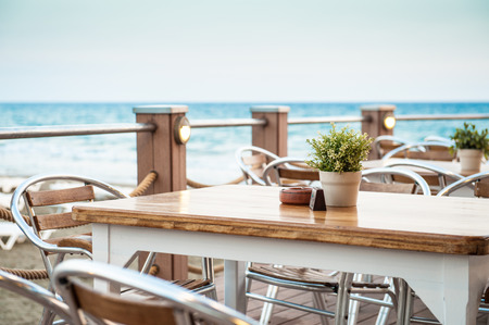 Cafe on the seaside