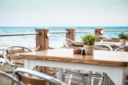 Cafe aan de kust