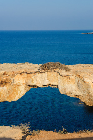 natural bridge: Natural bridge over the sea