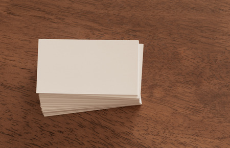 business cards: Business Card Visualization Template Stock Photo