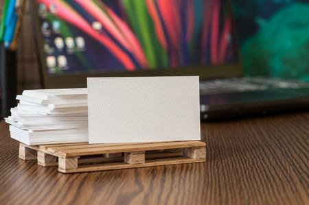 Business Card Visualization Template for Design Presentation