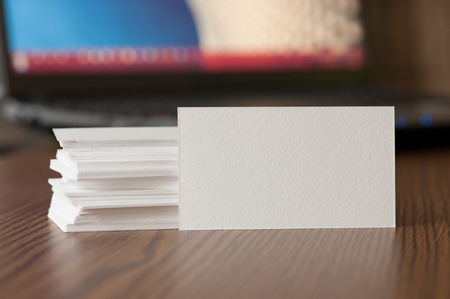 business cards: Business Card Visualization Template for Design Presentation