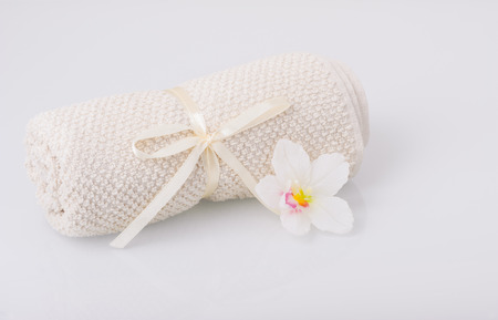 aromatic: Towel and aromatic candle