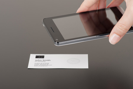 embedded: Business card with embedded NFC tag and phone