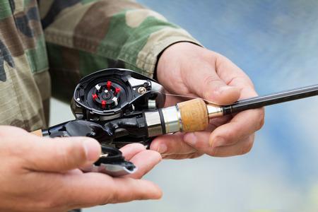 Modern device the multiplier fishing reel photo