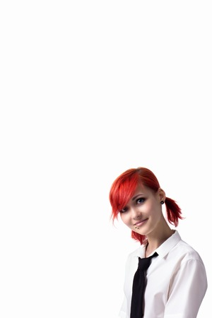 Red Haired Girl Image In The Style Of Anime Cheerful Face Non