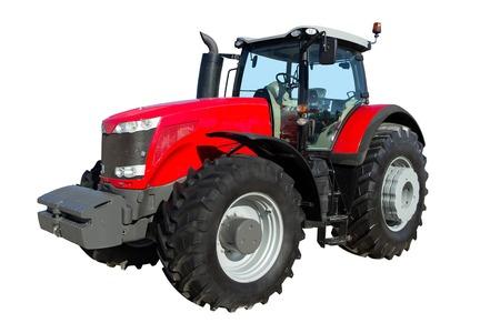 Traktor isoliert auf weißem Hintergrund, große Traktorrädern, landwirtschaftlichen Transport, der Verarbeitung von Grundstücken auf dem Bauernhof, ein modernes Verkehrs Bauernhof Standard-Bild - 50242873