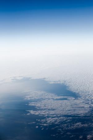 estratosfera: C�u e nuvens. Vista da estratosfera. Banco de Imagens