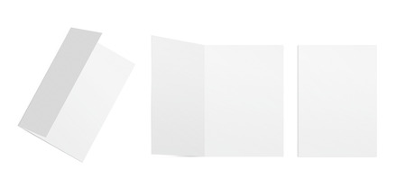 Template postcards on a white background. Back and front.
