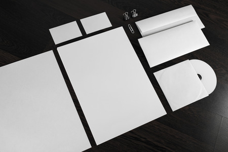 Blank stationery and corporate id template.  Stok Fotoğraf