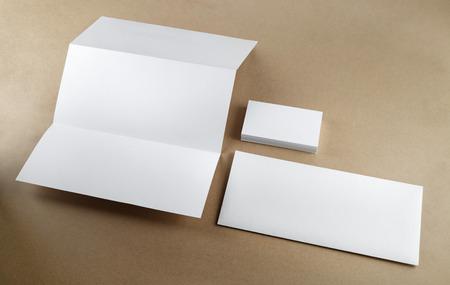 空白コーポレート ・ アイデンティティ テーブルに設定します。平面図です。