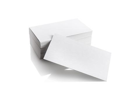白い背景の上のビジネス カードです。ブランドのアイデンティティのテンプレートです。クリッピング パスを孤立しました。 写真素材