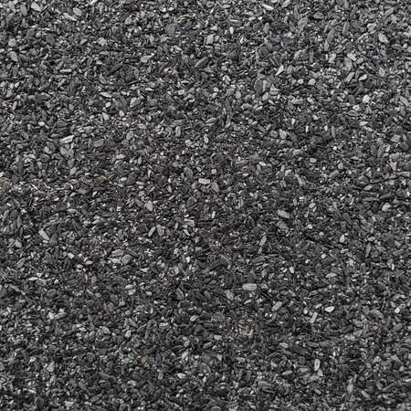 granular: Abrasive texture roofing material closeup. Abstract dark granular background.