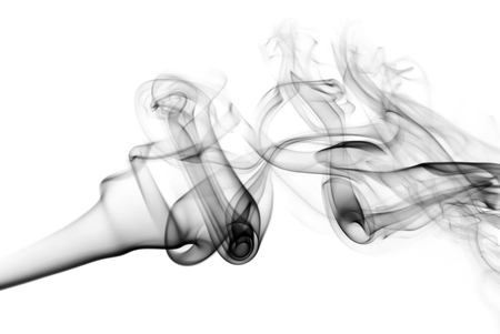 black smoke: Photo of abstract black smoke swirls. Smoke background. Stock Photo