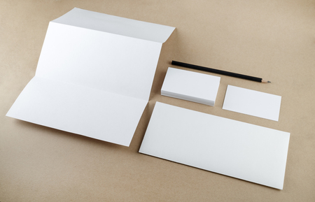 for designers: Blank stationery template for branding identity for designers. Mockup for ID.
