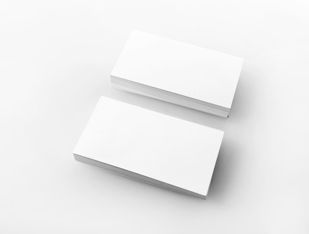 Photo Of Blank Business Cards On Light Background Stacks Of - Free blank business card template