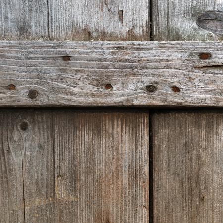 weather front: Old wood texture. Weathered textured wooden planks from the weather. Front view. Stock Photo