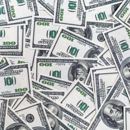 fake money: Many money as background. One hundred dollar bills. Fake money background. Business concept.