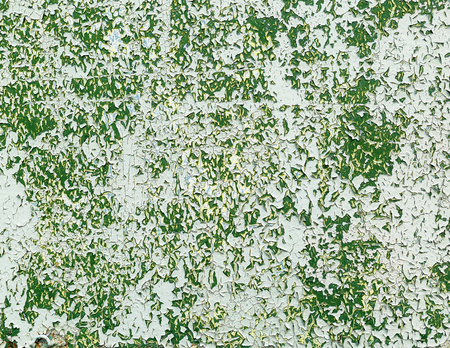mottled: Grunge green peeling paint texture. Old weathered background. Stock Photo