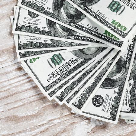 fake money: Heap of one hundred dollar bills. Fake money. Business concept.