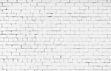 paredes de ladrillos: pared de ladrillo pintado de color blanco. Textura del ladrillo. Fondo de la pared de ladrillo blanco.