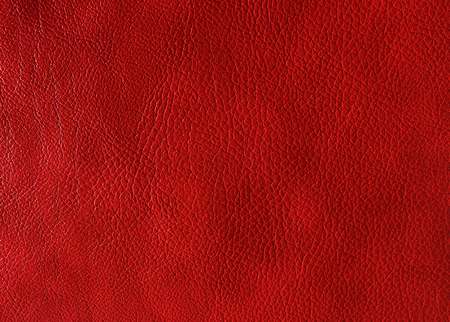 Red leather texture. May used as background. Stock Photo