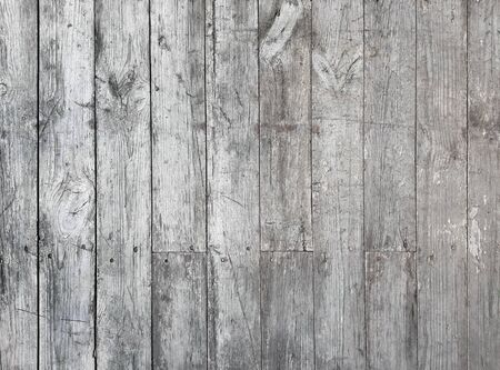 Old gray wooden boards texture. Vintage wood background.