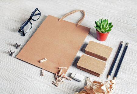 Blank corporate identity set. Mockup for design presentations and portfolios.