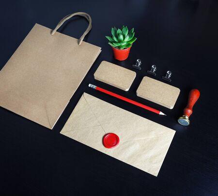 Vintage branding mockup. Corporate identity template. For design presentations and portfolios. Reklamní fotografie