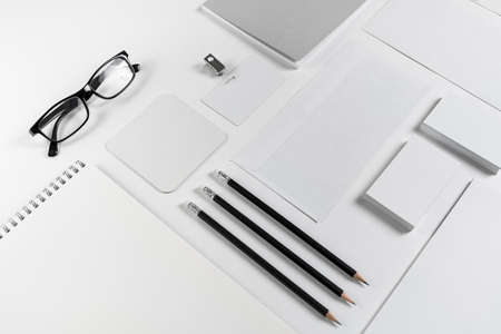 Blank stationery and ID template. Mock-up for branding identity for designers.
