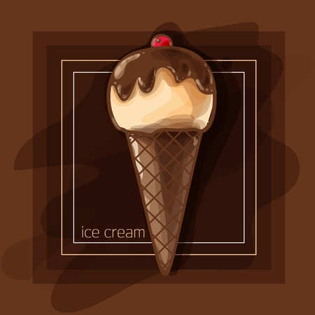 Vector Illustration: chocolate ice cream Vector
