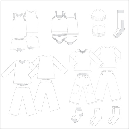 Set of underwear for teenagers from fourteen subjects