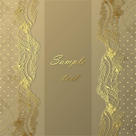 Vintage vector gold frame