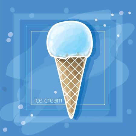 Vector Illustration: Ice cream Illustration