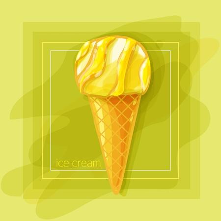 Vector Illustration: I love fruit ice cream Stock Vector - 10016698